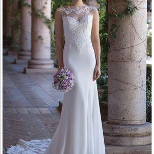 Justin Alexander crepe wedding gown